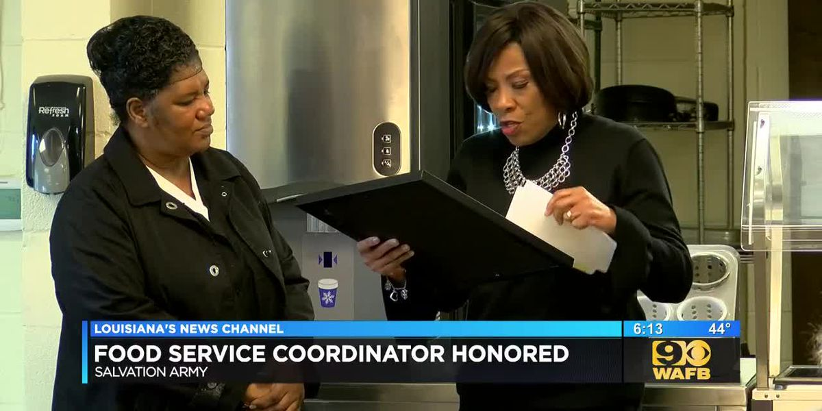Mayor honors Salvation Army's food service coordinator