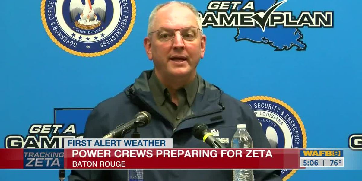 Baton Rouge keeping an eye on conditions as Zeta makes landfall