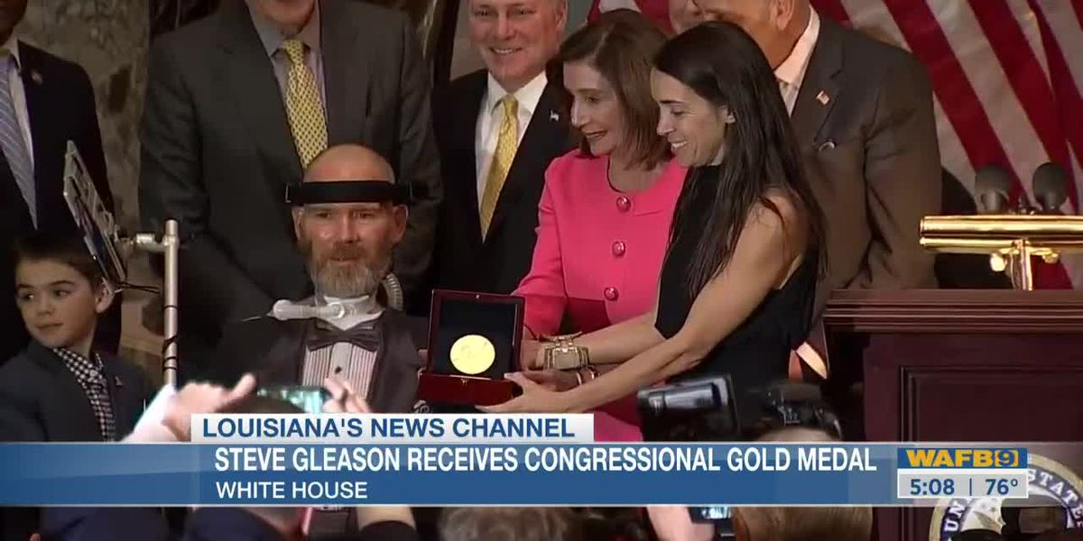Steve Gleason presented with Congressional Gold Medal
