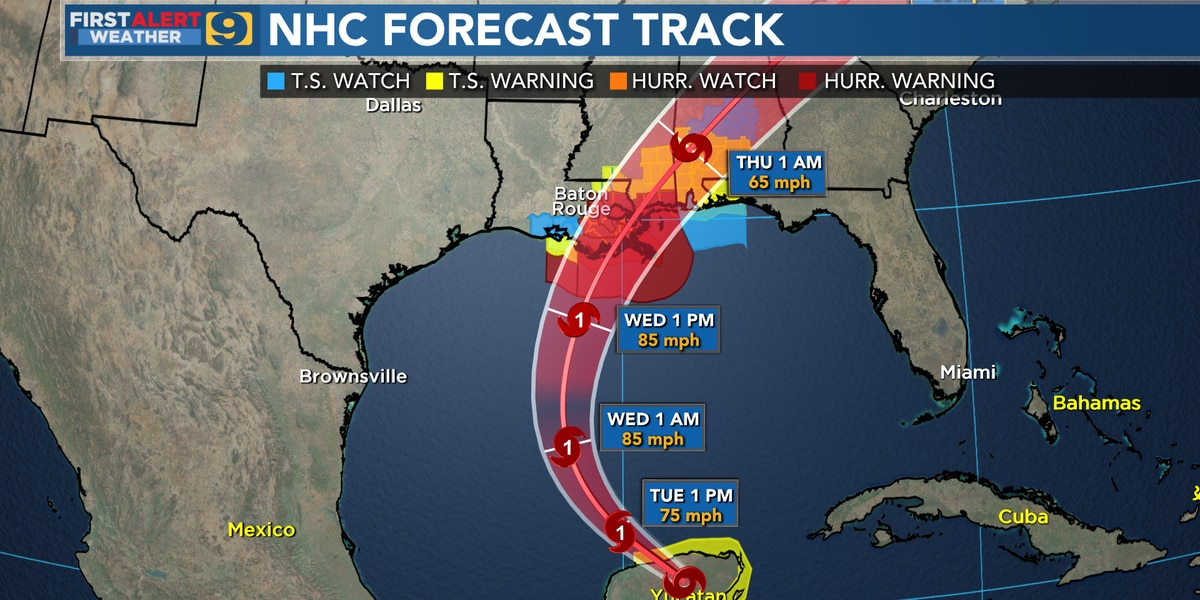 Zeta to make landfall in southeast La. Wednesday