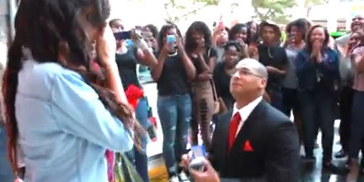 VIDEO: Baton Rouge firefighter proposes with flash mob at Mall of Louisiana
