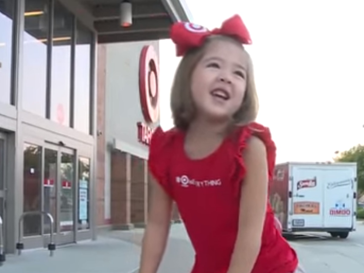 5-year-old celebrates birthday at Target