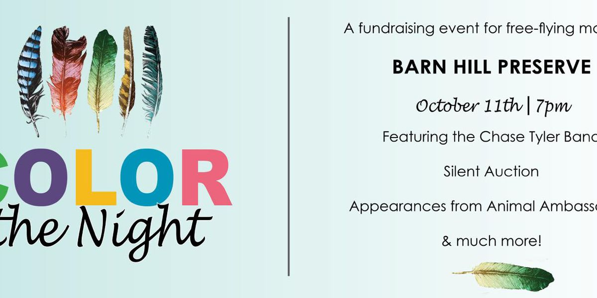 Hang out with exotic animals at Barn Hill Preserve's 'Color the Night' fundraiser in October