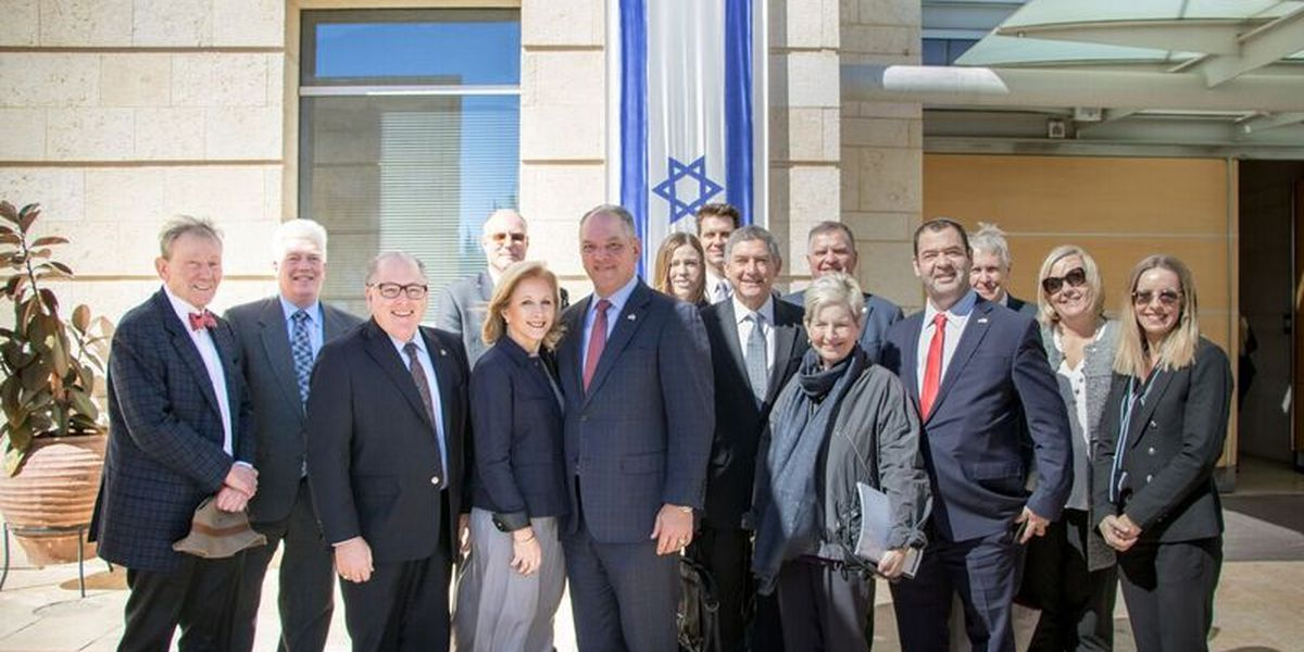 Gov. Edwards starts economic development mission in Israel
