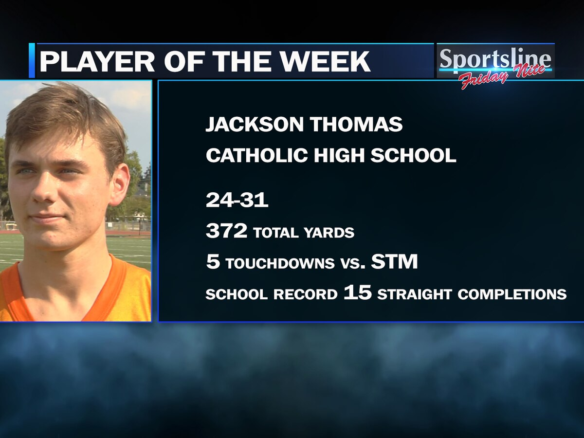 Sportsline Players of the Week: Catholic QB Jackson Thomas and Catholic WR Jalen Toaston (Week 5)