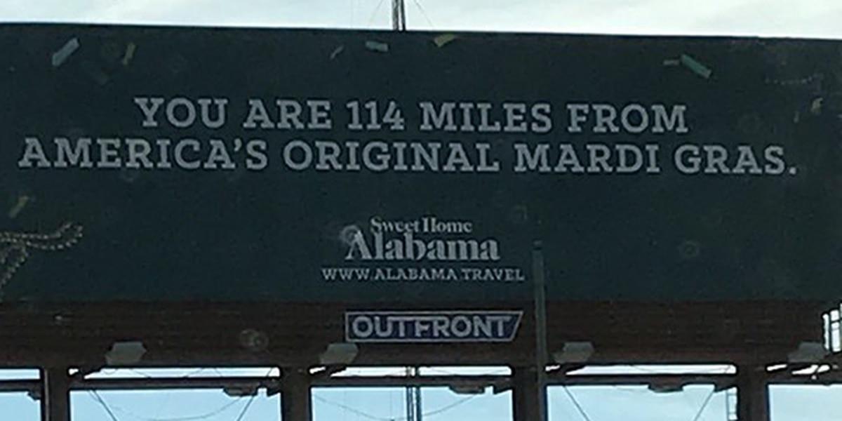 Alabama trolls New Orleans with 'America's Original Mardi Gras' billboards