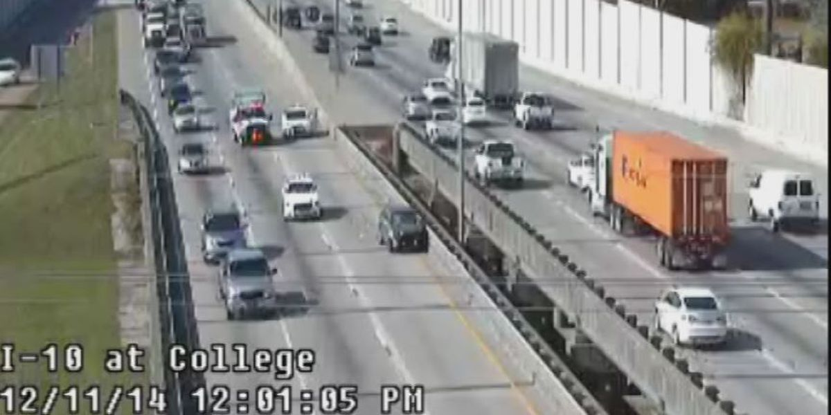 All lanes open at I-10 east at college