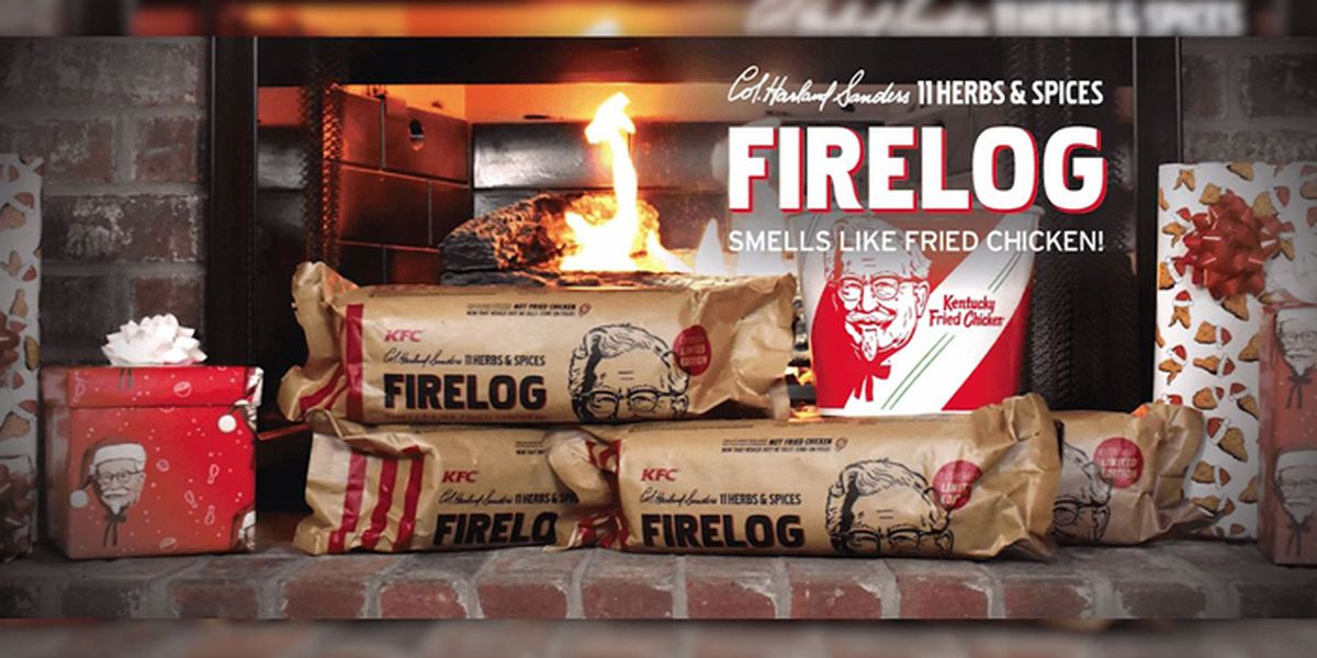 KFC unveils fried chicken-scented yule log