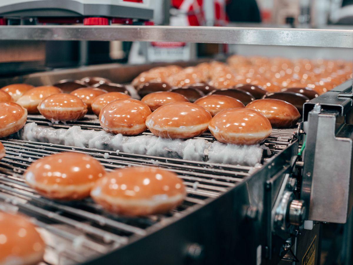 Managers at Krispy Kreme offer sneak peak of new location
