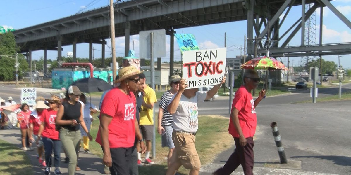 Protesters march through Baton Rouge to bring change to 'Cancer Alley'
