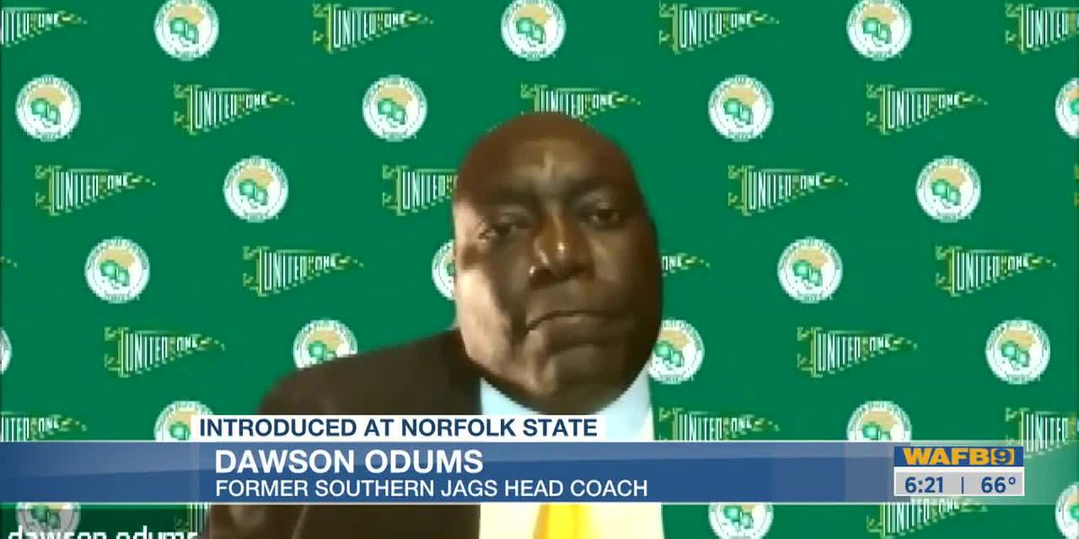 Norfolk St. introduces Dawson Odums as new head coach