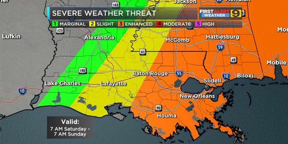 WEEKEND PLANNER: When to expect severe weather on Saturday