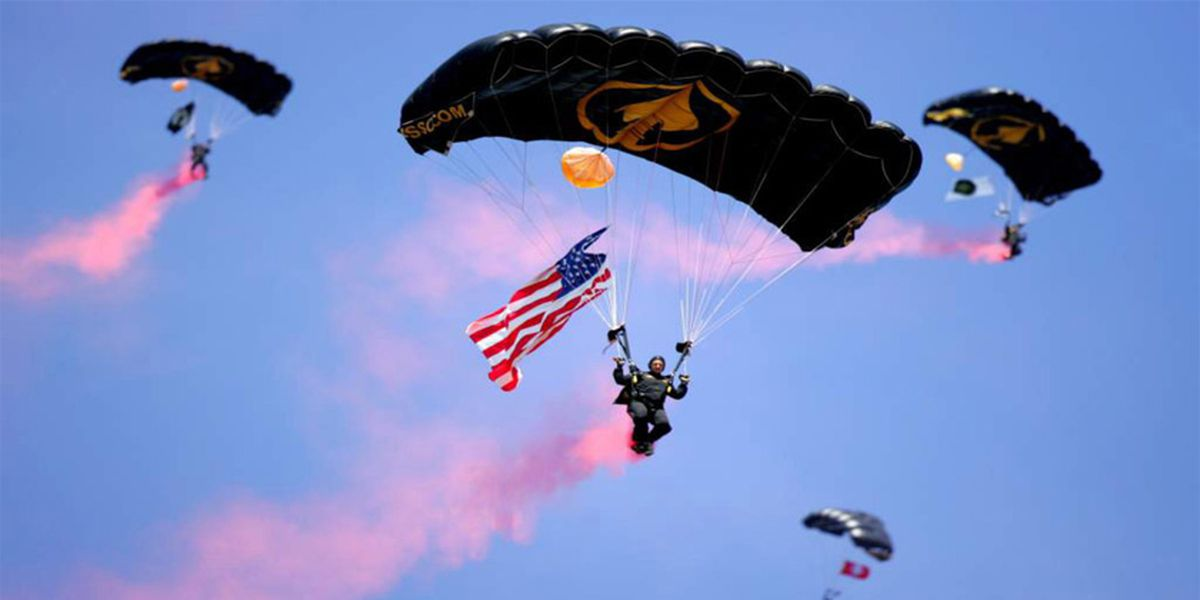 WATCH: U.S. Military special forces fly into Tiger Stadium, deliver game ball at match against Florida