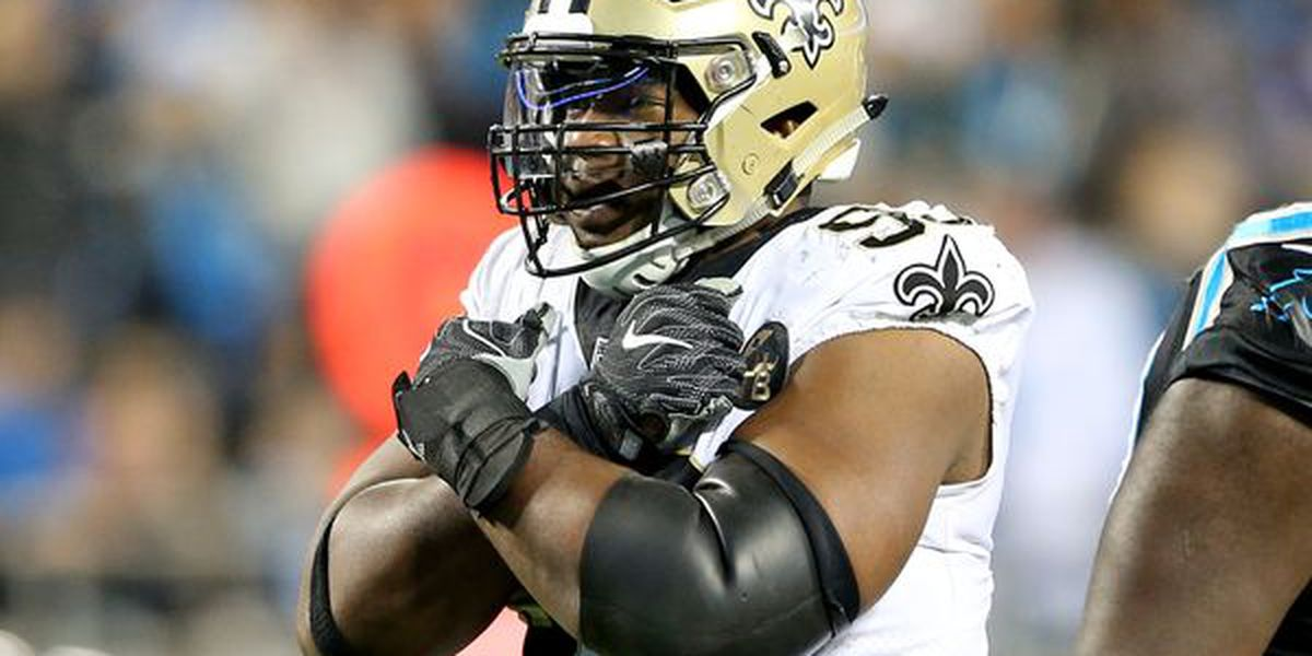 Saints defensive lineman David Onyemata arrested for marijuana possession