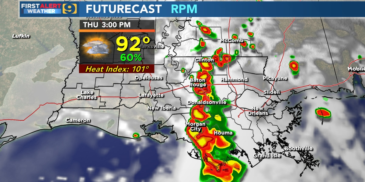 FIRST ALERT FORECAST: Expect heat to continue, rain chances increase Thursday