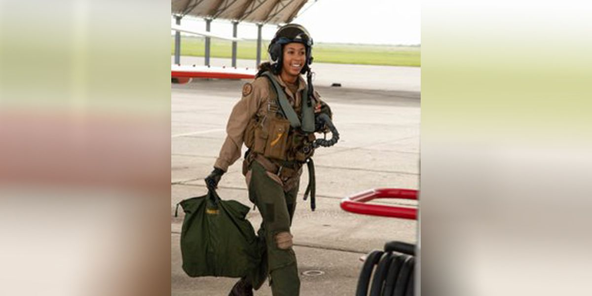 U.S. Navy's first Black female fighter pilot will receive her wings