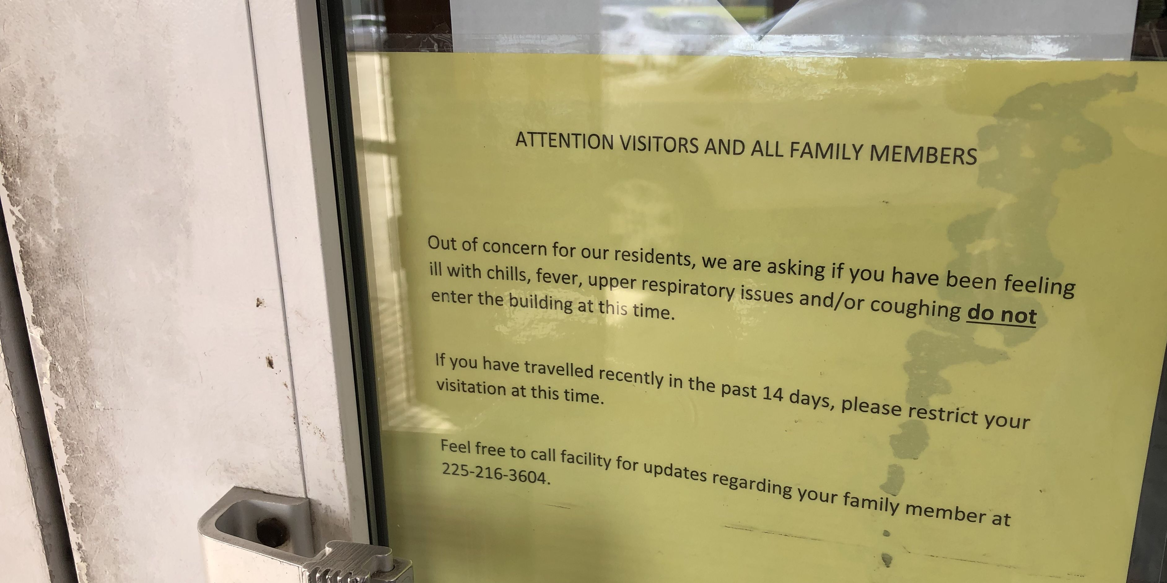 Visitation policies impacted by COVID-19