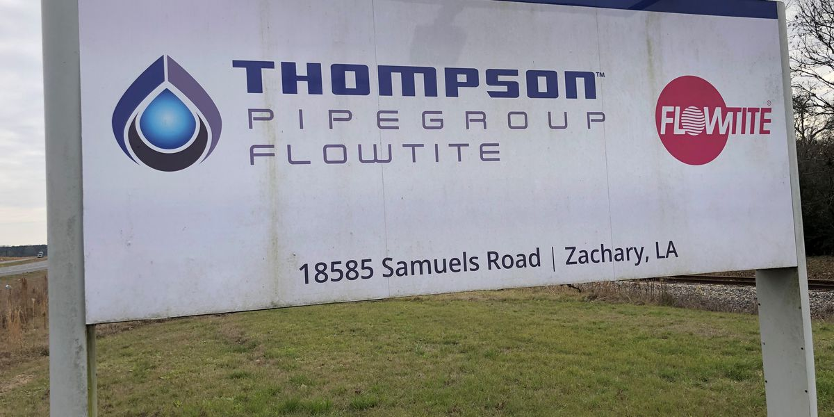 Report: Zachary pipe company to close; 120 jobs impacted