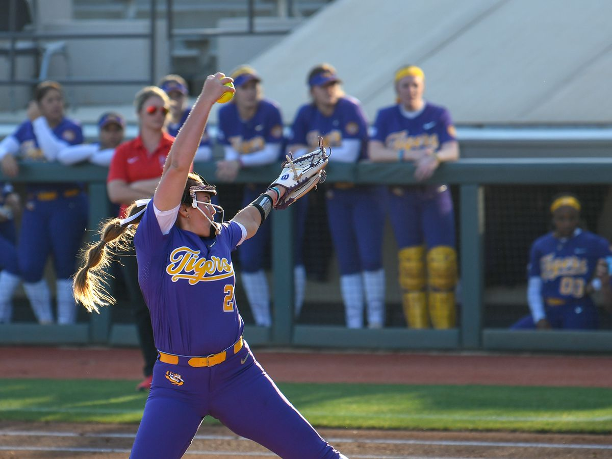 No. 8 LSU softball beats Lamar in midweek contest