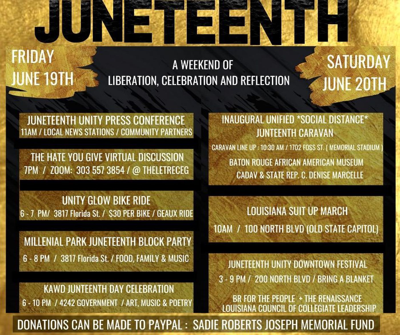 Juneteenth a weekend of celebration and reflection.