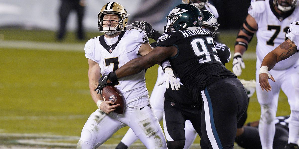 Saints fall 24-21 to Eagles; snap 9-game win streak