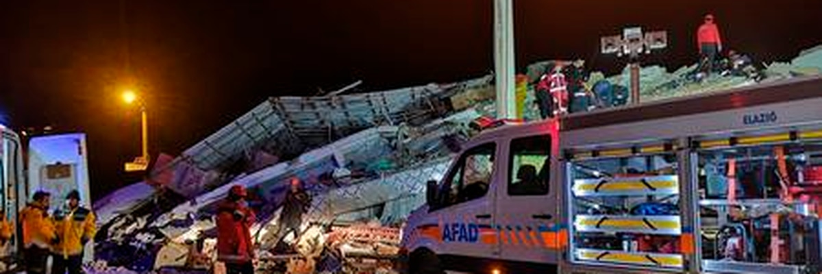 Emergency crews rescue victims after a major earthquake in Turkey