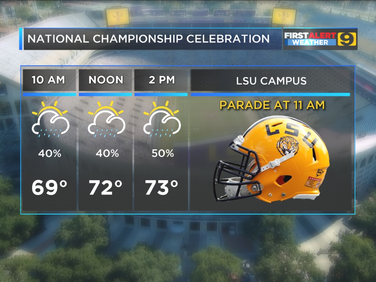 Will it rain on LSU's parade?