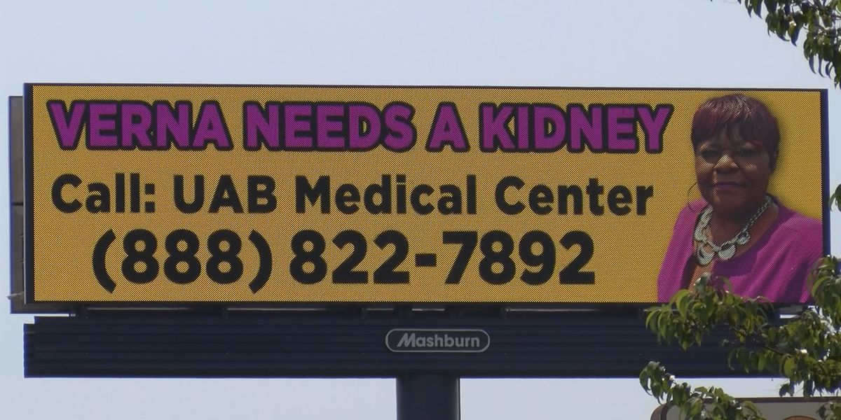 Montgomery woman puts up billboards in hopes of finding a kidney donor