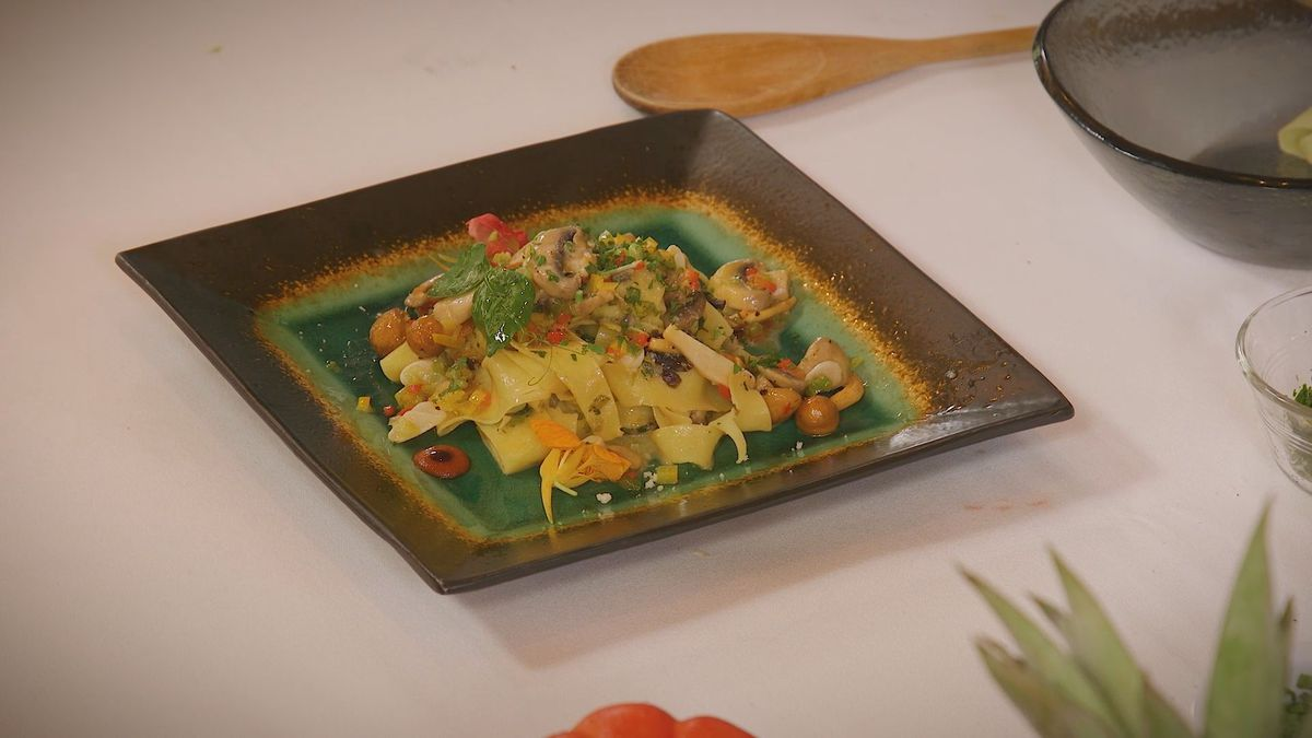 Mixed Wild Mushrooms with Pappardelle