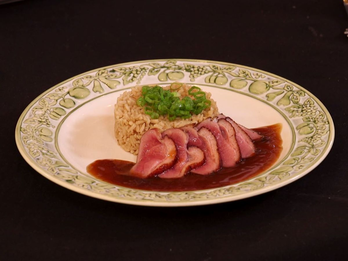 Mallard Duck Ham over Rice Dressing