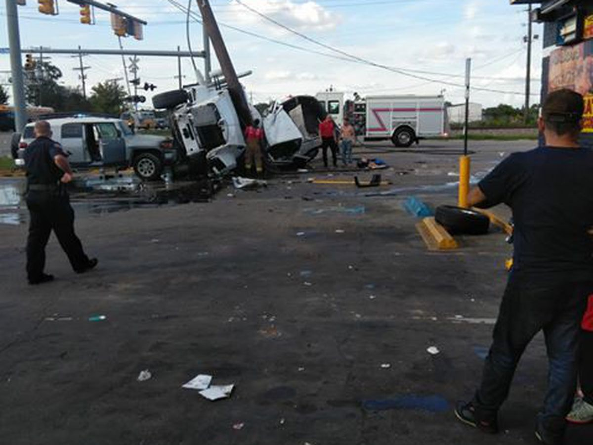 At least 1 reported injured in crash involving cement truck