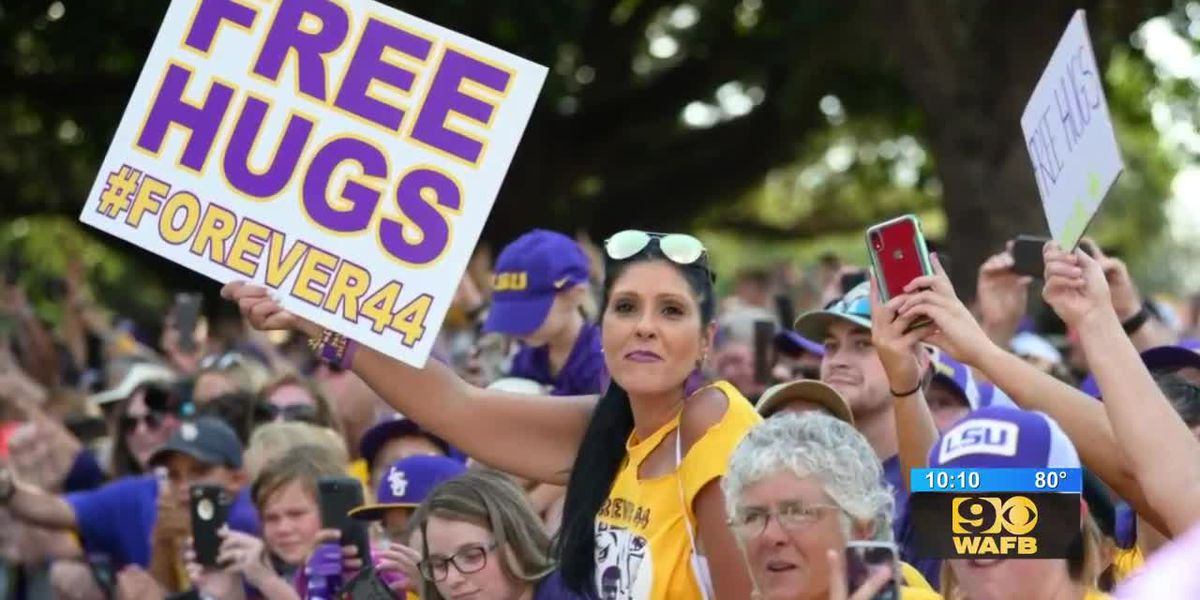 Fay Sims speaks about continuing her son's legacy of offering free hugs at LSU games