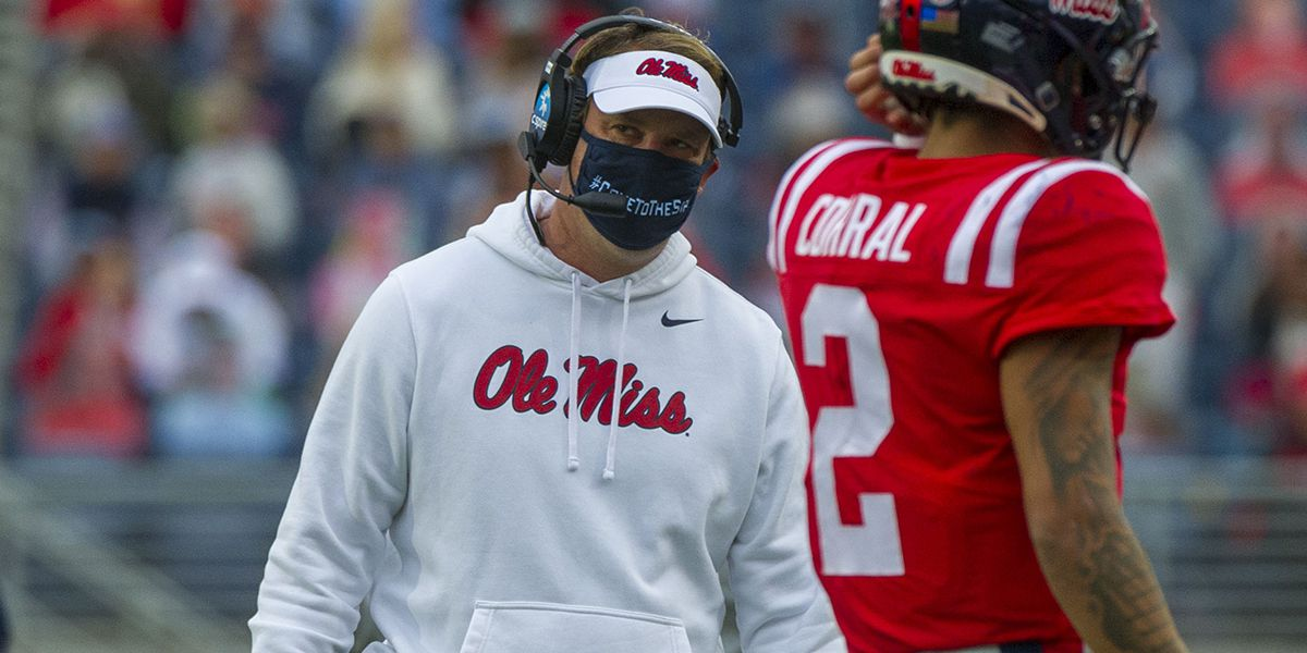 SEC says kickoff return in Auburn-Ole Miss game should have been reviewed; fines Ole Miss head coach Lane Kiffin