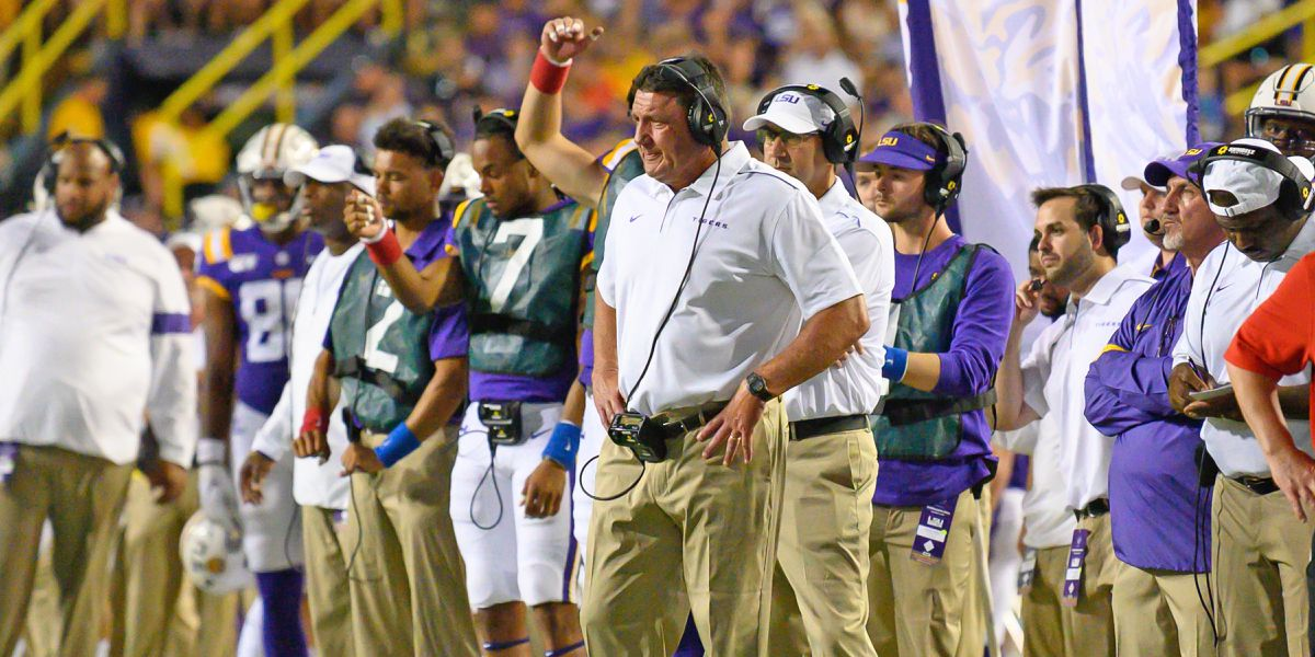 Orgeron gives lineup updates before LSU-Utah St. game