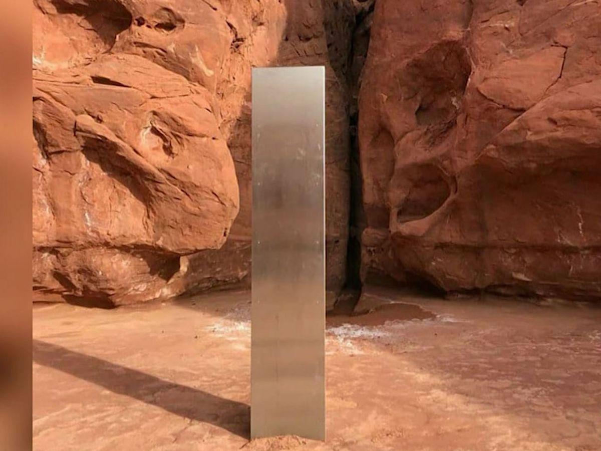 Mysterious metal monolith found in Utah desert
