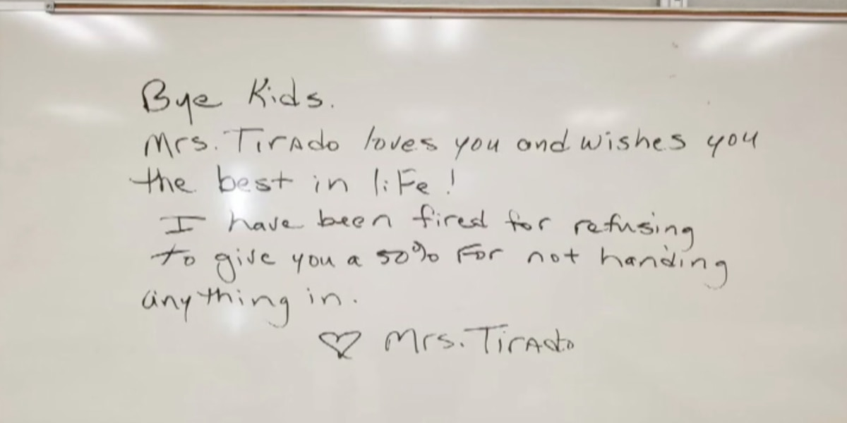 Florida teacher says she was fired for giving zeros to students who didn't turn in work