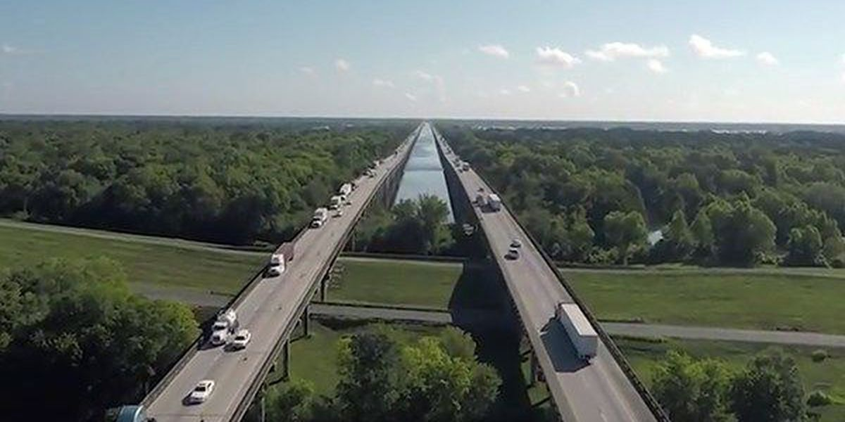 DRONE VIDEO: Details on widening project between Atchafalaya Basin Bridge and Lafayette