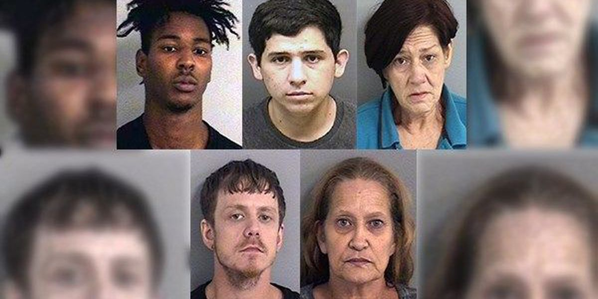 Five arrested in string of vehicle burglaries