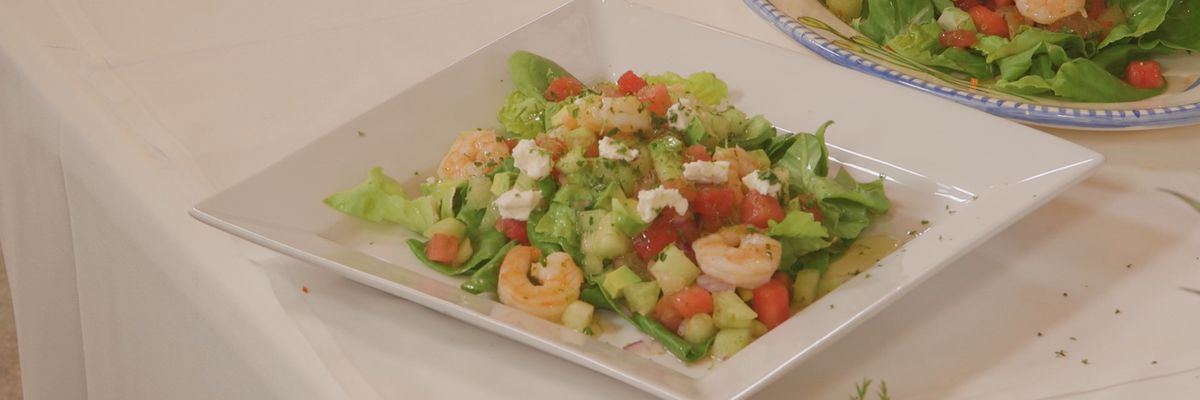 Twin Melon, Shrimp, and Avocado Salad