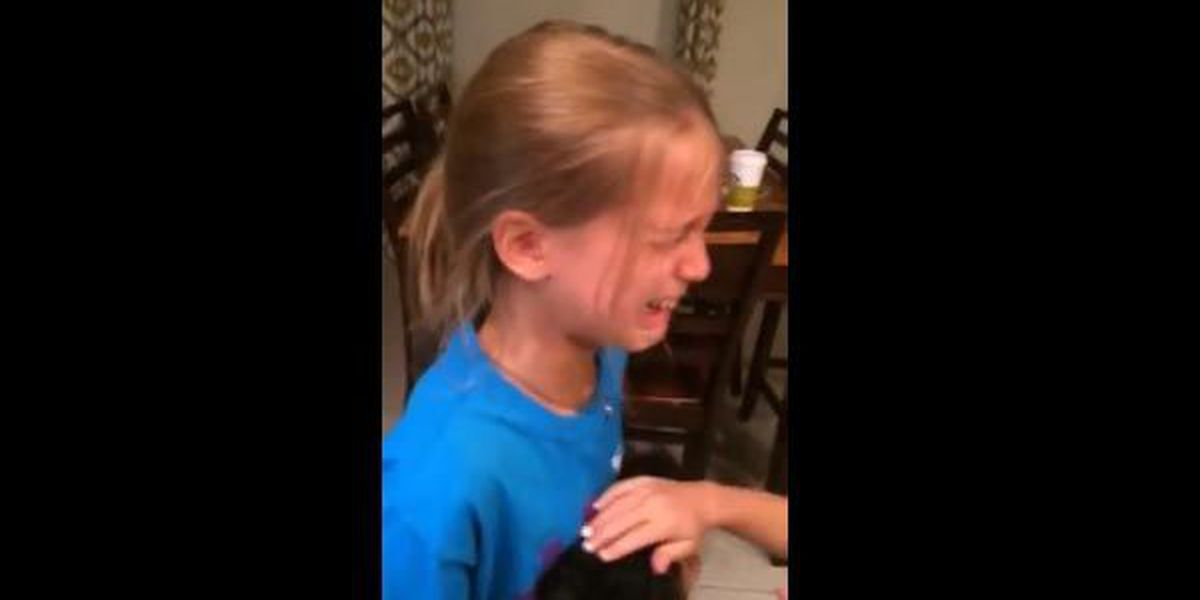 VIDEO: Girl's priceless reaction to getting her first dog