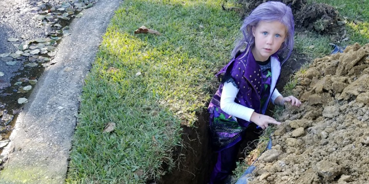 Residents blindsided by holes being dug in yards before Halloween night