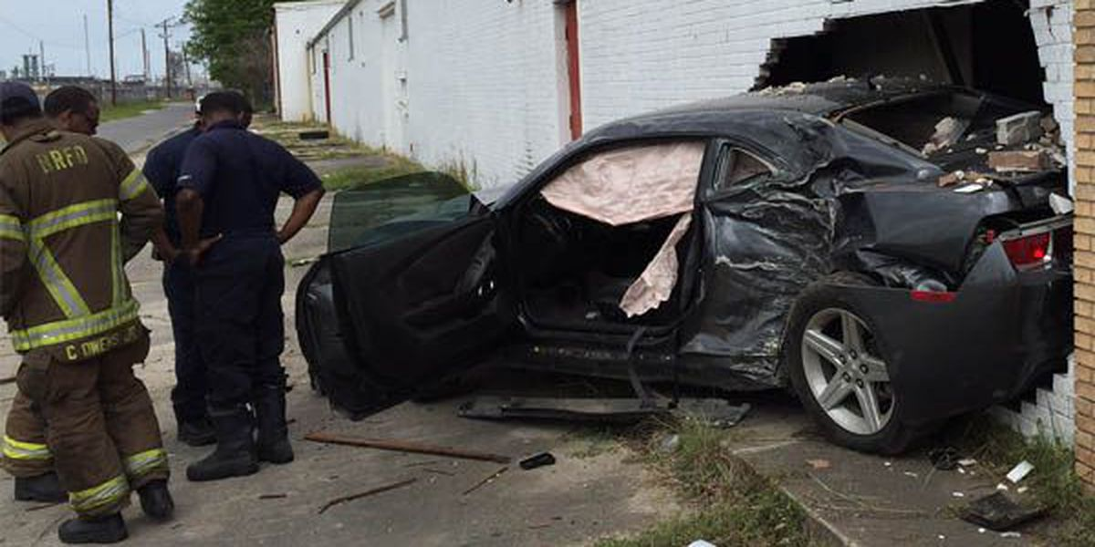Man accused of DWI avoids injury after crashing vehicle through building