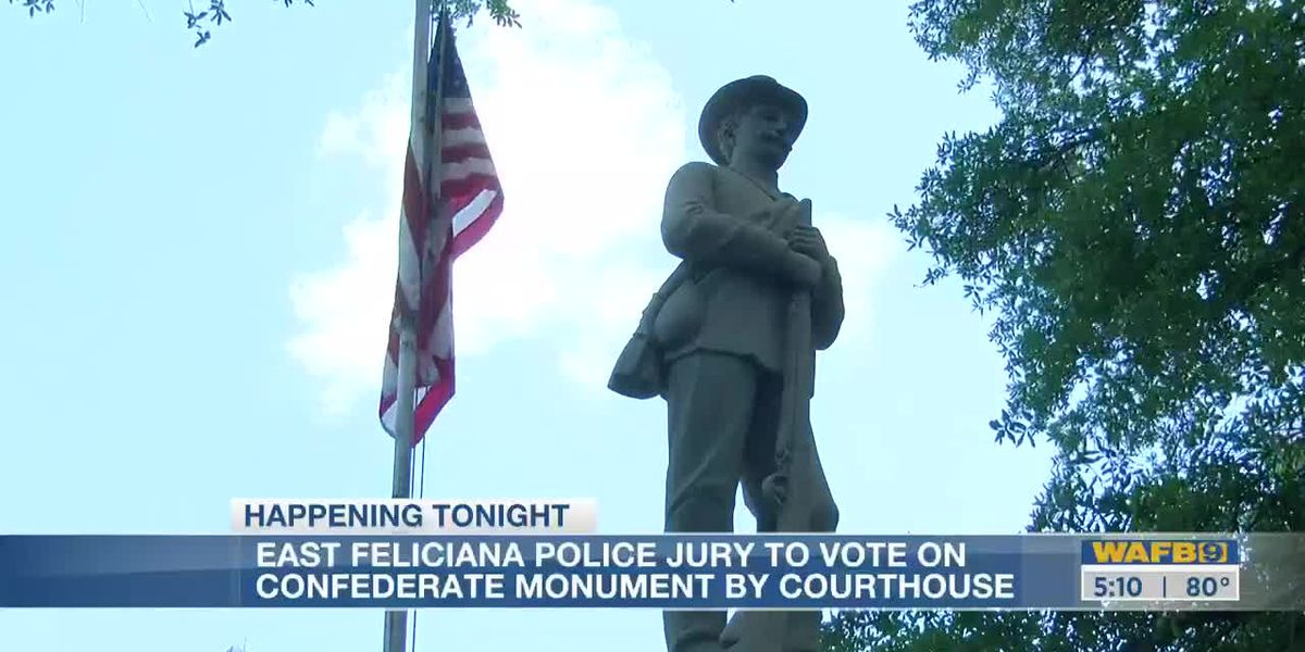 East Feliciana Parish Police Jury to vote on Confederate monument by courthouse