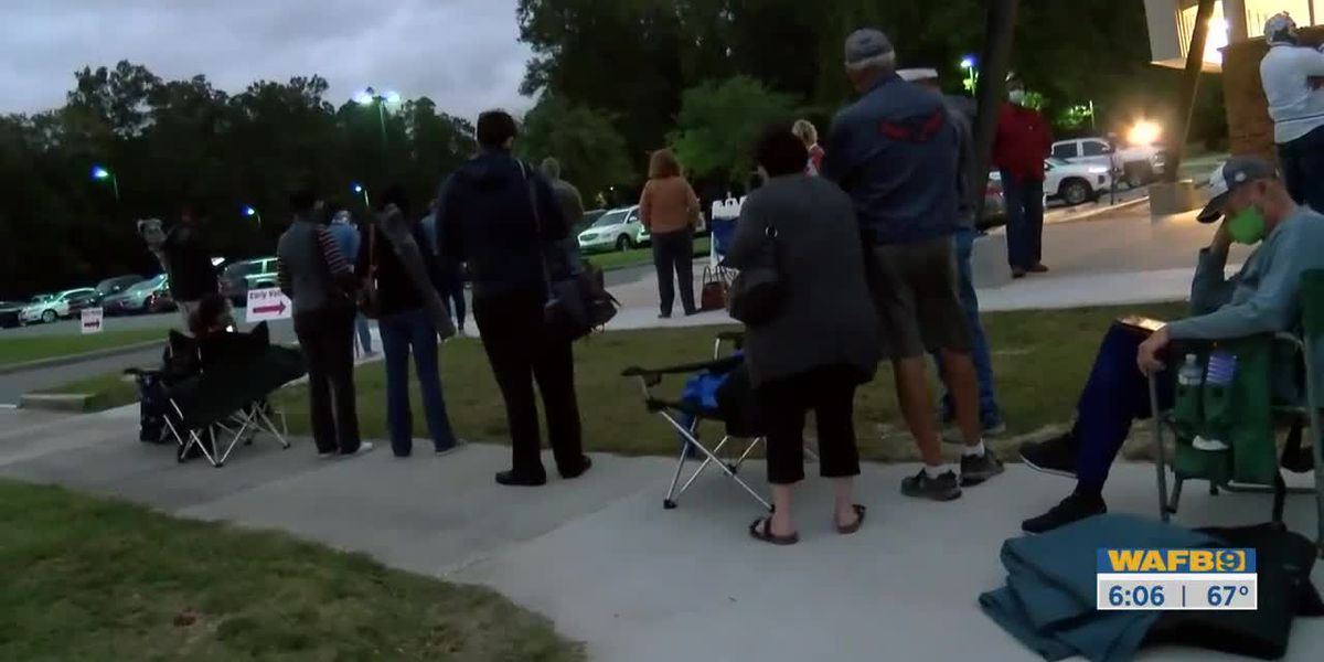 Long lines continue throughout the day for first day of early voting