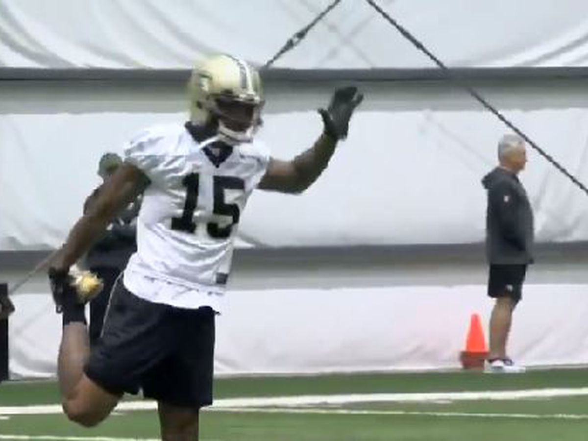 VIDEO: Brandon Marshall practices with Saints