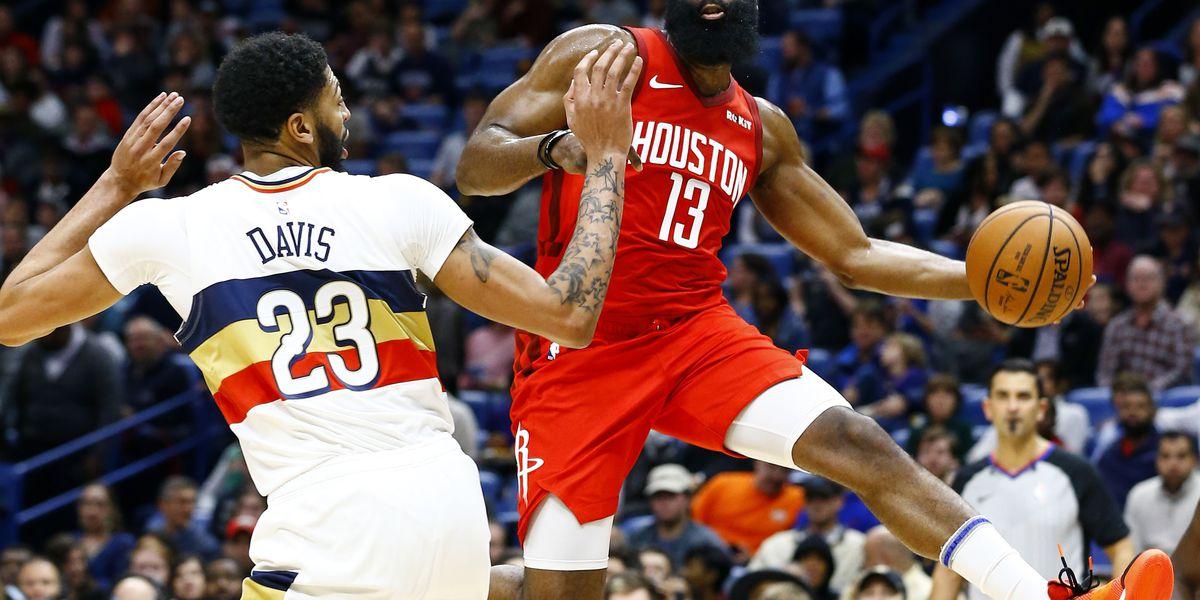 Harden scores 41, Rockets beat Pelicans 108-104