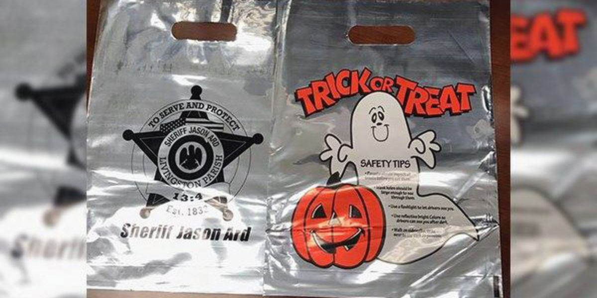 Officials handing out free glow sticks for Halloween safety