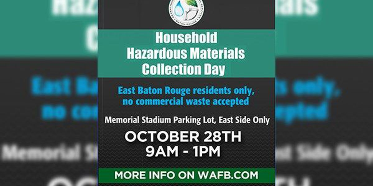 EBR Parish residents can dispose of waste safely on Halloween weekend