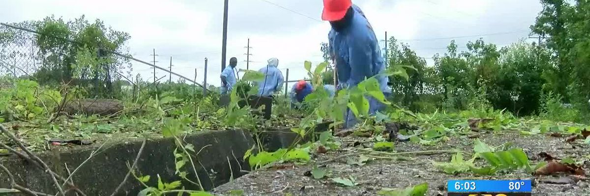 Inmates from Dixon Correctional work to clean up graveyards throughout EBR Parish