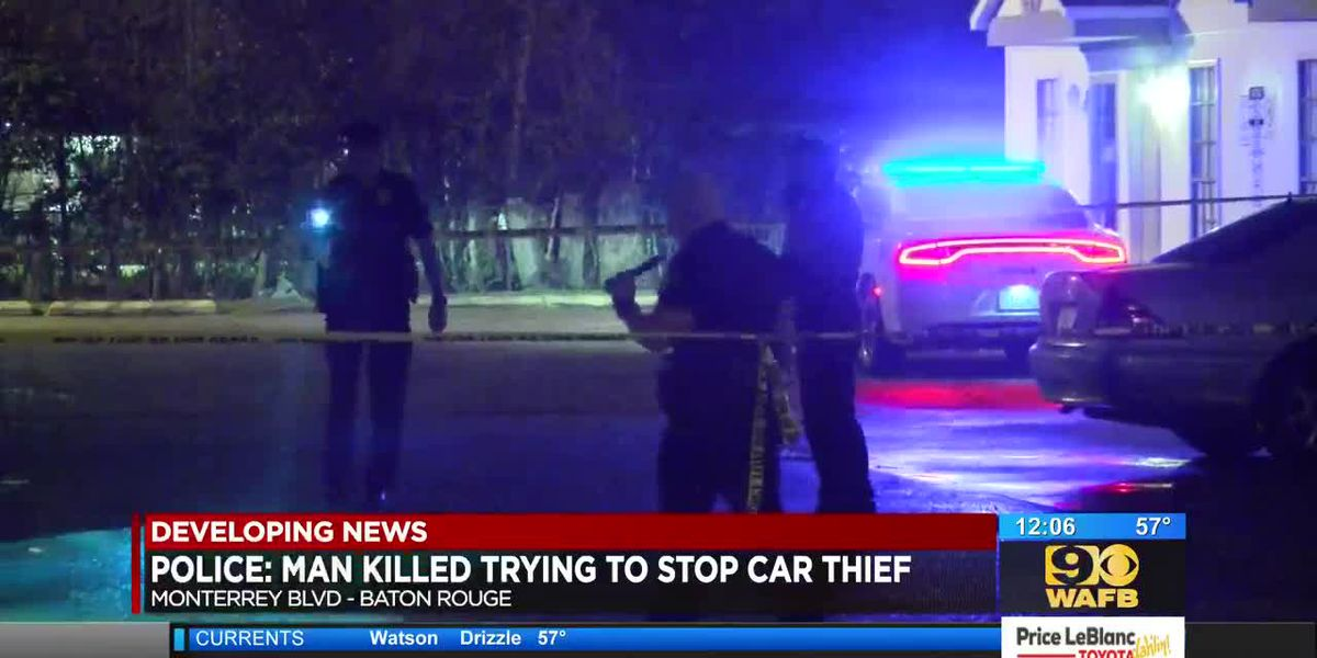 Man shot, killed while trying to stop carjacking
